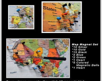 Choose a totally custom legend for your travel map no limit magnetic travel maps choose your map 24x36 in a solid wood frames gumiabroncs Images