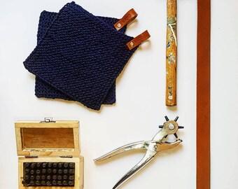 Potholder, knitted potholder, cotton potholder, potholder leather, potholder blue, potholder design