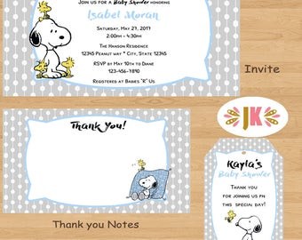 Snoopy baby shower invitations etsy forever snoopy baby snoopy baby shower invitations filmwisefo Choice Image