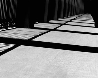 """Black and White Abstract Photography - """"The Hallway"""""""