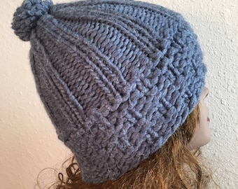 Winter Park Beanie  --  a loom knit pattern