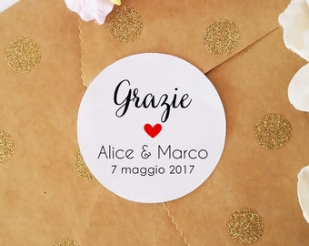 Custom adhesive labels, stickers, labels, self adhesive Sticker wedding Confetti