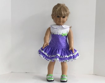 1950s  Handmade Ruffled Play dress for American Girl Dolls