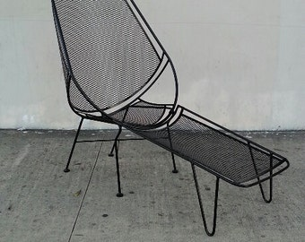 Vintage outdoor lounge chair Etsy
