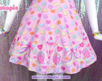 "Pink ""Lovely Candy Heart"" Skirt"