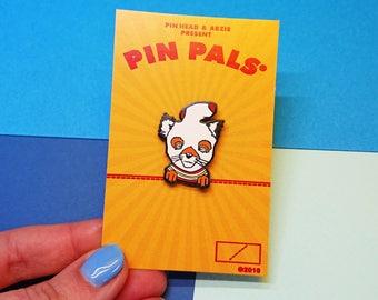Ash Fox Fantastic Lapel Pin, Wes Anderson Hat Pin, Fan Art, Illustration, Tube Sock Ash Badge, Collectible Pins, Hard Enamel Pins, Fox Gift