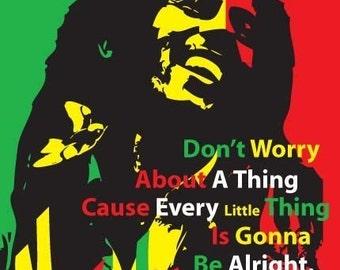 Bob Marley Print 11x17 - Famous Seniors