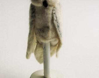 Felted Owl Finger Puppet