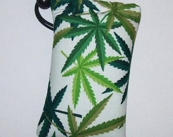 """Pipe Pouch, Cannabis Bag, Pipe Case, Glass Pipe Bag, Marijuana, Padded Pipe Pouch, Pipe Cozy, 420, Pothead, Weed, Stoner - 5"""" DRAWSTRING"""