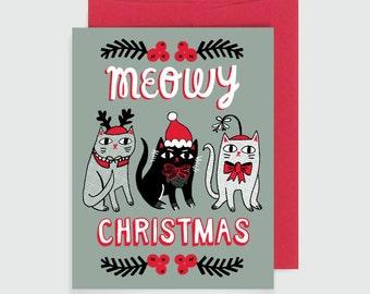 Holiday Card - Meowy Christmas