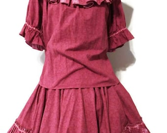 square dance outfit - square dance dress - square dance skirt - square dance clothes - square dance costume