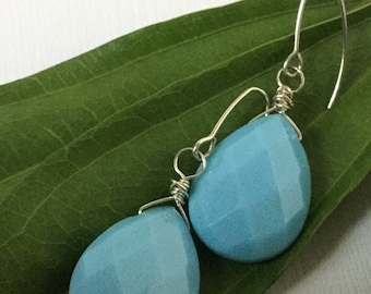 Faceted Blue Drops