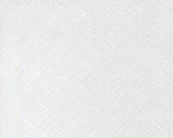 Architextures Crosshatch in White, Carolyn Friedlander, Robert Kaufman Fabrics, 100% Cotton Fabric, AFR-13503-1 WHITE