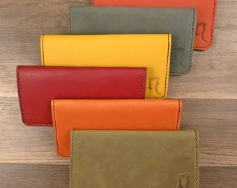 Color Leather Checkbook Cover