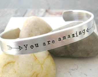 You Are Amazing In Bed double sided, 60 characters front, 30 inside, girlfriend gift, flirty gift, secret message, hidden message cuff