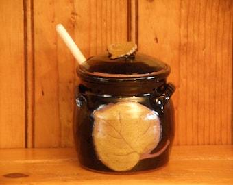 Aspen Leaf  Honey Pot