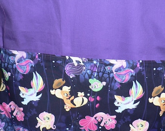 Handmade Chair Bag First Name Embroidered Free My Little Pony Print