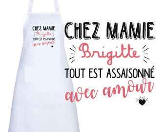 "ADULT apron personalized ""to Grandma..."""