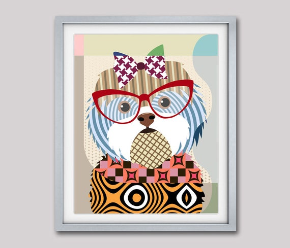 Shih Tzu Wall Art, Shih Tzu Gift, Shih Tzu Painting, Shih Tzu Decor, Shih Tzu Poster, Shih Tzu Print, Shih Tzu Dog Art, Chinese Lion Dog