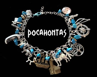 Pocahontas Womens Charm Bracelet