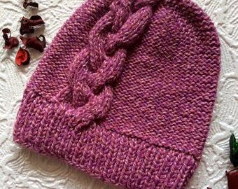 Hat with braid || Pink hat || Braid hat