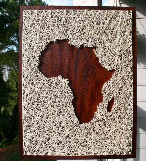 Africa string art africa art map of africa map string africa string art africa art map of africa map string art africa wall art africa travel african continent sciox Gallery