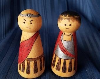 Roman peg dolls