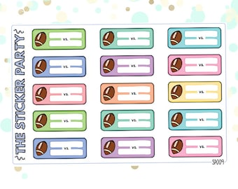 Football Planner Stickers