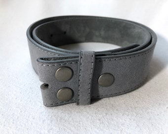 Gray Suede Belt Strap for Buckles