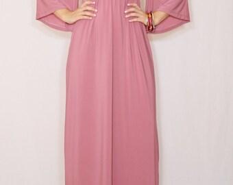 Dusty rose dress Mauve dress Maxi dress Kimono dress Women Kaftan dress