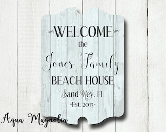 Custom House Sign - Personalized - Beach House Sign - Lake House Sign - Cottage - Farm House - Shabby Chic - Home Decor