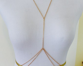 Gold Body Chain - Beach Body Jewelry