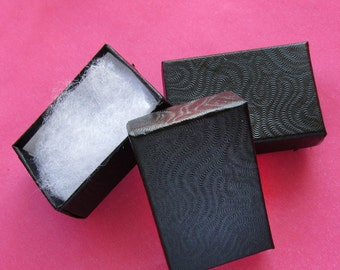 100 TINY Black Swirl cotton filled boxes - perfect for CANADIAN Shipping