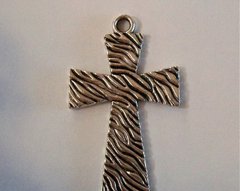 CROSS Silver Small Zebra Patterned Pendant
