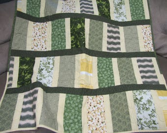 Green and Yellow Lap quilt
