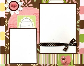 Sweetheart - 12x12 Premade Scrapbook Page