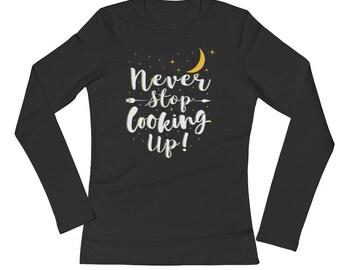 Never Stop Looking Up Cute Nighty Pajama Sleepwear
