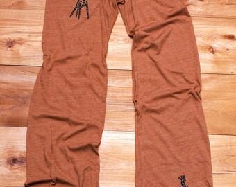long winded Giraffe Yoga Pants in Terracotta, S,M,L,XL