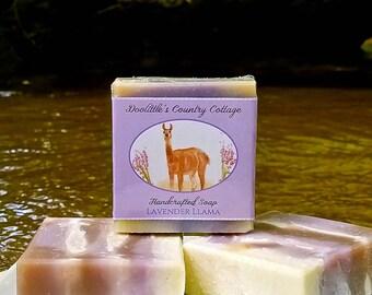 "Soap - ""Lavender Llama"" - Lavender Soap, All Natural Soap, Animal Soap, Vegan soap, Natural Soap, Handmade Soap, Cold Process Soap,"