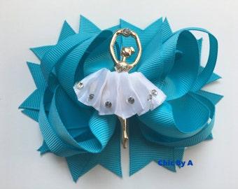 Ballerina Hair Bow,Princess Hair Bow,Ballerina Hair Clip,Ballerina,Dance Hair Bow,Ballet Hair Clip, Ballet Hair Bow,Ballerina Birthday