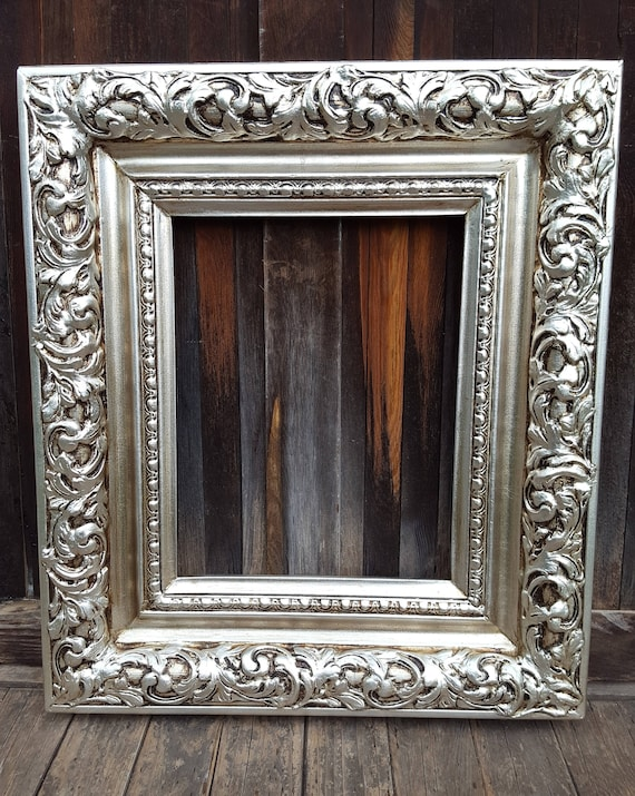silver antique picture frames. Colonial Style Frame, Silver Leaf, Wedding Photo, French Decor Frames, Custom Wood Picture Antique Frame,vintage Frame From Frames N