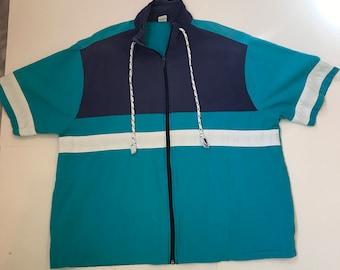 Vintage Sea Island Brand Zip Up Shirt