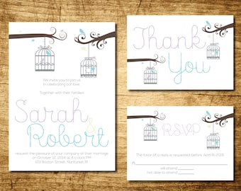 Birdcage Wedding Invitation Printable