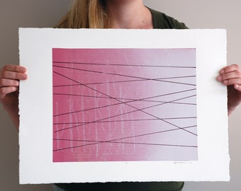 Crisscross - Abstract Silkscreen Print - 11x14