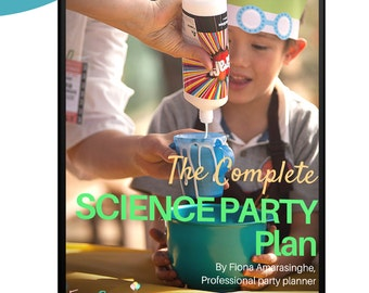 Complete SCIENCE PARTY PLAN - One-stop guide to decoration, experiments, food, printables, everything! - Instant digital download