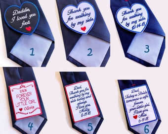 Father of the Bride Tie Patch, wedding gift for dad, Embroidered Patch for dad, Father of the Bride Gift, Dad Gift, Tie Patch