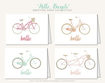 Hello, Bicycle Collection  |  Greeting Cards  |  Set of 12 Cards
