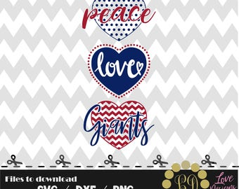 Peace Love NY Giants svg,png,dxf,shirt,jersey,football,college,university,decal,mom,texans,nfl,texas,files cricut,patriots,dallas,decal,york