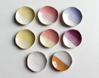 Mini Ceramic Dishes - Modern Pottery - Clay - Small/Tiny - Sauce/Soy/Salt/Spice/Condiments - Food Styling - Jewelry - Assorted Colors