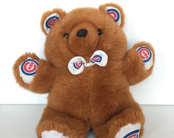 Vintage MLB Chicago Cubs Pillow Pal Reversible Teddy Bear